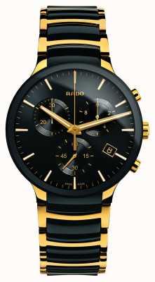 Rado Centrix chronograaf xl goudkleurige hightech keramiek R30134162