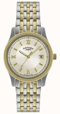 Rotary Gents two-tone stalen armband horloge GBI0793/09
