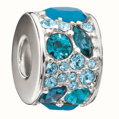 Chamilia sterling zilver w stone - mozaïek - Multi blauw swarovski 2025-0793