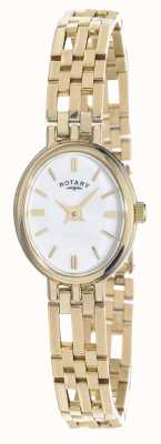 Rotary 9ct goud elite edele metalen ovale dial LB10090/02