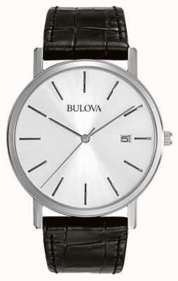 Bulova Gents jurk zilver zwart 96B104
