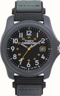 Timex Mens expeditie zwart gezicht nylon band horloge T42571