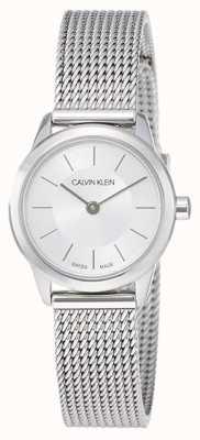 Calvin Klein Dames minimaal | roestvrij stalen gaasband | K3M23126