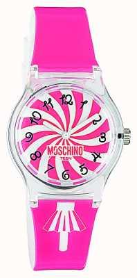 Moschino Dames roze band horloge MW0321