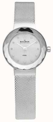 Skagen Dames stalen gaas armband horloge 456SSS