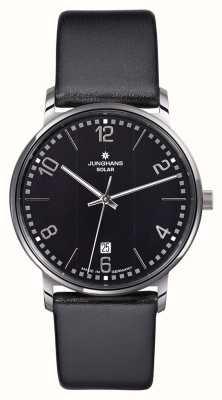 Junghans Milano heren zwarte band horloge 014/4062.00