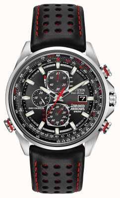Citizen Gentse rode pijlen bij d9 chronograaf eco-drive horloge AT8060-09E