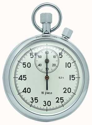 Woodford Chroom, witte wijzerplaat, mechanische stopwatch 1041