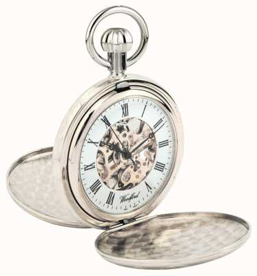 Woodford Full hunter verchroomd metalen skelet zakhorloge 1062