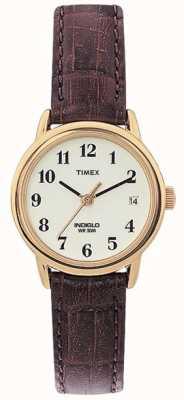 Timex Ladies natuurlijke bruine eenvoudig reader horloge T20071