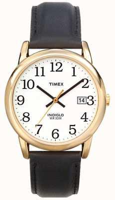 Timex Mens wit zwart gemakkelijk reader horloge T2H291