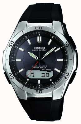 Casio Heren golf ceptor zwart rubberen band roestvrijstalen horloge WVA-M640-1AER
