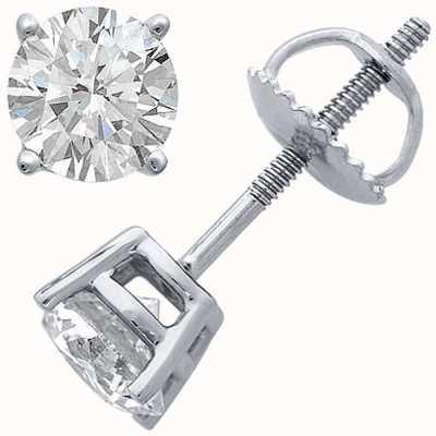 Certified Diamond Oorbellen, vier klauw 0.50ct h si, schroef terug hulpstukken C50PT-4CLAW-HSI