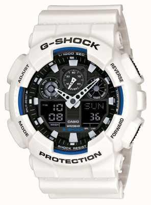 Casio Mens g shock witte hars horloge GA-100B-7AER