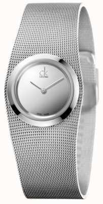 Calvin Klein Impulsief horloge voor dames | roestvrij stalen gaasband | K3T23128