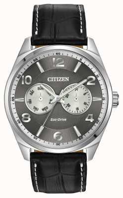 Citizen Heren roestvrij stalen horloge grijze wijzerplaat AO9020-17H