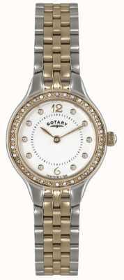 Rotary Dames goud vergulde quartz analoog horloge LB02868/01