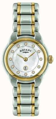 Rotary Dames two tone armband horloge LB02602/41L