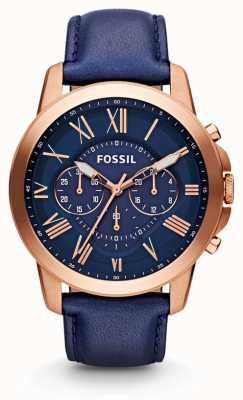 Fossil Mens verlenen chronograaf marine horloge FS4835