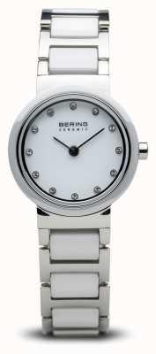 Bering Tweekleurig keramisch horloge minimalistisch 10725-754