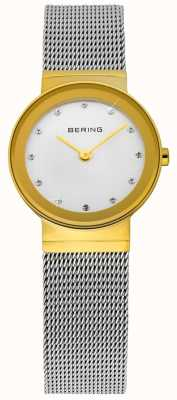 Bering Tijd dames goud en zilver klassieke mesh 10122-001