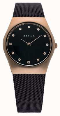 Bering Time dames Milanese bruin mesh horloge 11927-262