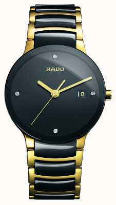 Rado | centrix diamanten | hightech keramiek | zwarte wijzerplaat | R30929712