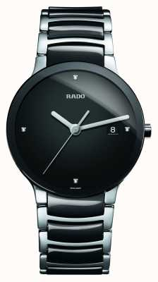 Rado | centrix diamanten | hightech keramiek | zwarte wijzerplaat | R30934712