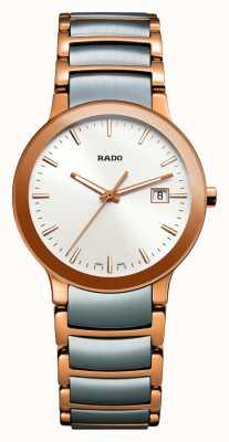 Rado | centrix | tweekleurig roestvrij staal | witte wijzerplaat | R30555103