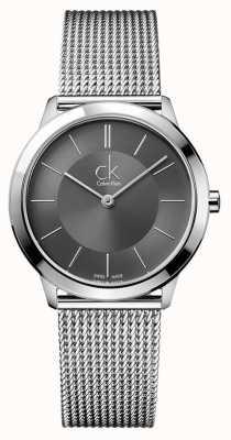 Calvin Klein Minimaal herenhorloge | roestvrij stalen gaasband K3M22124