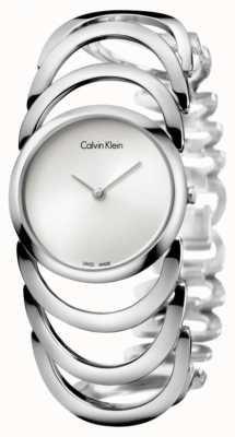 Calvin Klein Dames lichaam zilveren horloge K4G23126