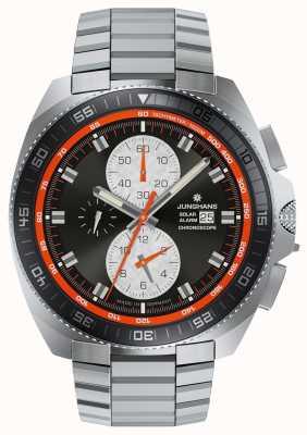 Junghans Ex-display heren chronoscope solar stainless steel horloge uit 1972 014/4202.44-EX-DISPLAY