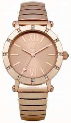 Lipsy Rose gouden expander armband horloge LP100