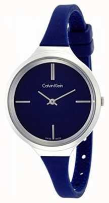 Calvin Klein Dames levendige blauwe siliconen band K4U231VN