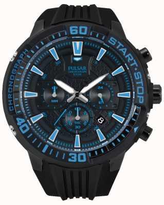 Pulsar Gents x chronograaf zwart en blauw PT3507X1