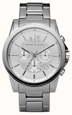 Armani Exchange Heren zilver staal chronograaf AX2058