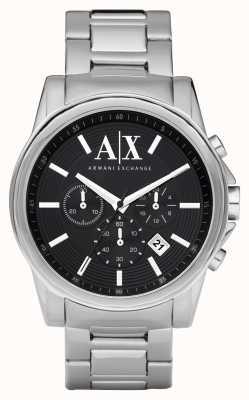 Armani Exchange Heren smart roestvrij staal chronograaf zwarte wijzerplaat AX2084
