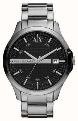 Armani Exchange Gents slimme zilveren toon horloge AX2103