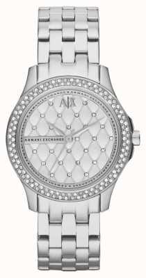 Armani Exchange Vrouwen smart roestvrij stalen armband kristal set AX5215