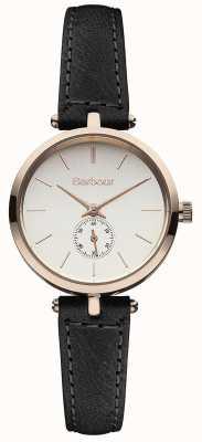 Barbour Lisle zwart lederen band horloge BB011RSBK