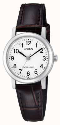 Lorus Vrouwen roestvrij staal lederen band horloge RRS57UX9
