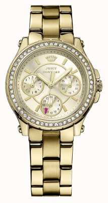 Juicy Couture Dames goud vergulde quartz analoog horloge 1901105