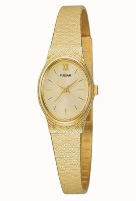 Pulsar dameshorloge | gouden gaasband | PK3032X1