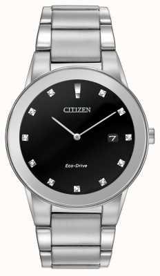 Citizen | mens eco-drive axioma | zwarte diamanten wijzerplaat | AU1060-51G