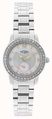 Rotary Dames roestvrij staal quartz analoog horloge LB02700/41