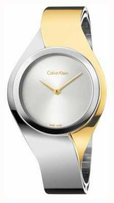 Calvin Klein Zintuigen voor vrouwen roestvrij stalen armband | goud / zilver | K5N2S1Y6