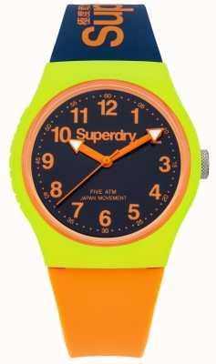 Superdry Urban marine oranje siliconen band horloge SYG164MU