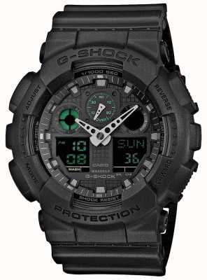 Casio G-shock stealth groen zwart heren wereld timer GA-100MB-1AER