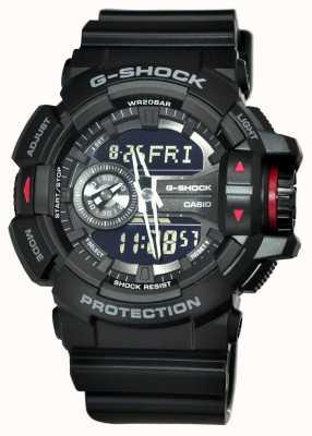 Casio Mens g-schok zwarte chronograaf GA-400-1BER