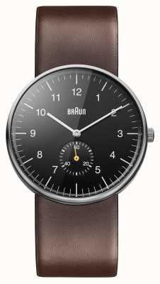 Braun Mens Black bruin horloge BN0024BKBRG